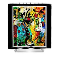 Jazzy Shower Curtain by Lynda Payton
