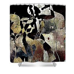 Jazzy Night 8 Shower Curtain by Lynda Payton