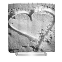 Winter Heart Shower Curtain