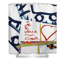 Je Te Donne Mon Coeur Shower Curtain