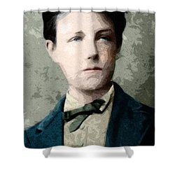 Jean Nicolas Arthur Rimbaud Age 17 Shower Curtain