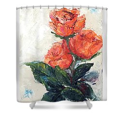 Jeannie's Roses Shower Curtain