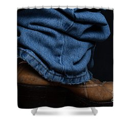 Jeans And Cowboy Boots Shower Curtain
