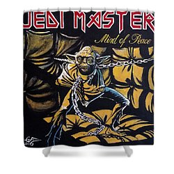 Jedi Master - Mind Of Peace Shower Curtain by Tom Carlton