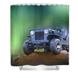 Shower Curtain featuring the photograph Jeep by Charuhas Images