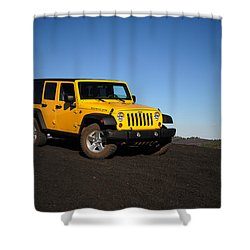 Jeep Rubicon In The Cinders Shower Curtain