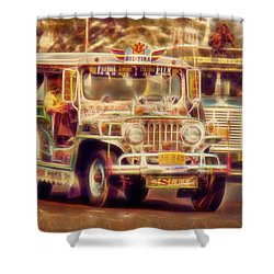 Jeepney Manila Shower Curtain