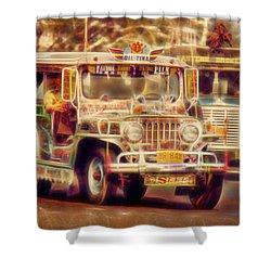 Jeepney Manila Shower Curtain