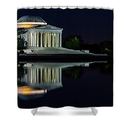 The Jefferson At Night Shower Curtain by Ed Clark
