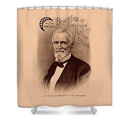 Jefferson Davis Vintage Advertisement Shower Curtain by War Is Hell Store