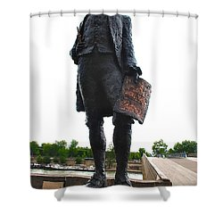 Jefferson In Paris Shower Curtain by Eric Tressler