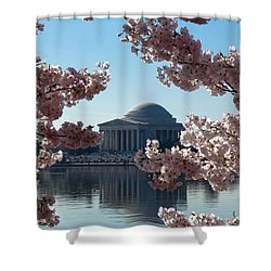 Jefferson Memorial At Cherry Blossom Time On The Tidal Basin Ds008 Shower Curtain