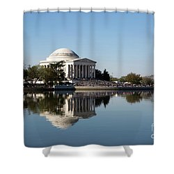 Jefferson Memorial Cherry Blossom Festival Shower Curtain