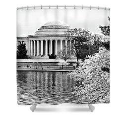 Jefferson Memorial Cherry Blosum Time Shower Curtain