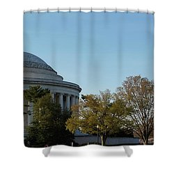 Jefferson Memorial Shower Curtain by Megan Cohen