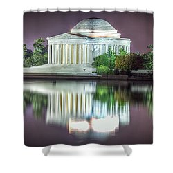 Jefferson Memorial, Night Shower Curtain