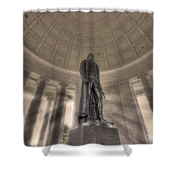 Jefferson Memorial Shower Curtain by Shelley Neff