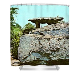 Jefferson Rock  Shower Curtain by Ruth  Housley