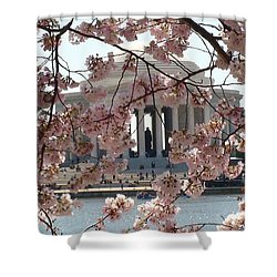 Jefferson Through The Cherry Blossoms Shower Curtain