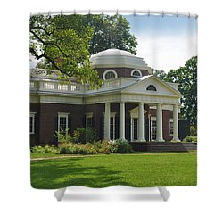 Jeffersons Monticello Shower Curtain by Bill Cannon