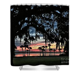 Jekyll Island Georgia Sunset Shower Curtain