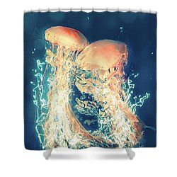 Jellies Shower Curtain by Kenneth Armand Johnson