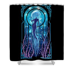 Jellyfish Mermaid Shower Curtain