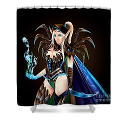 Jemma Blood Elf Shower Curtain