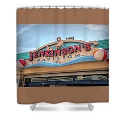 Shower Curtain featuring the photograph Jenkinson's Pavilion by Kristia Adams