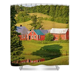 Shower Curtain featuring the photograph Jenne Farm Reflection by Susan Cole Kelly
