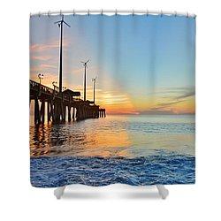 Jennette's Pier Aug. 16 Shower Curtain
