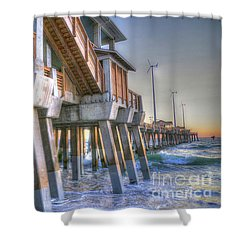 Jennette's Pier Shower Curtain