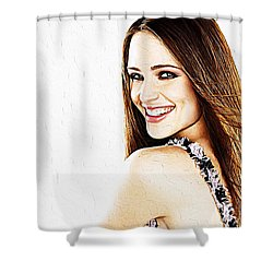 Jennifer Garner Shower Curtain by Iguanna Espinosa