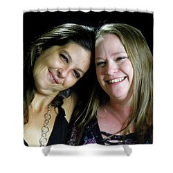 Jennifer Harell Lopez And Monica Poucher Shower Curtain