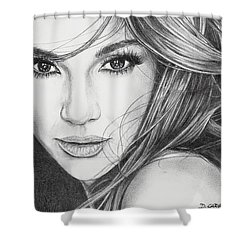 Jennifer Lopez Shower Curtain