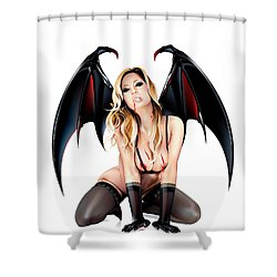 Jennifer Vampire Shower Curtain