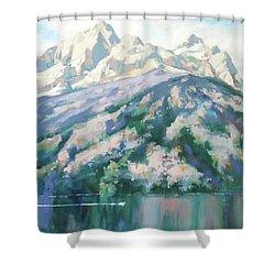 Jenny Lake Shower Curtain by Carol Strickland