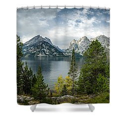 Jenny Lake Overlook Shower Curtain