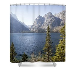 Shower Curtain featuring the photograph Jenny Lake by Shirley Mitchell