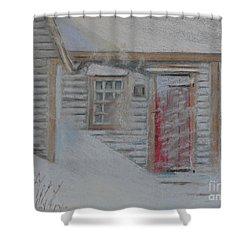 Jeremiah Calkin House  Shower Curtain by Rae  Smith PAC