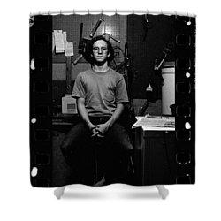 Self Portrait, In Darkroom, 1972 Shower Curtain