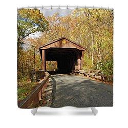 Jericho Covered Bridge Shower Curtain