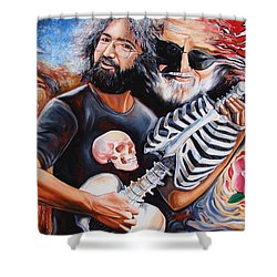 Jerry Garcia And The Grateful Dead Shower Curtain by Darwin Leon