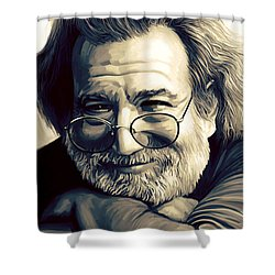 Jerry Garcia Artwork  Shower Curtain