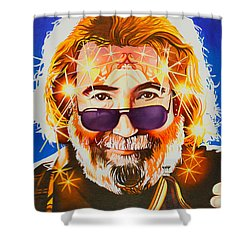 Shower Curtain featuring the painting Jerry Garcia-dark Star by Joshua Morton