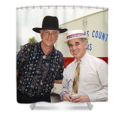 Jerry Jeff Walker And S. David Freeman Shower Curtain by Marilyn Hunt
