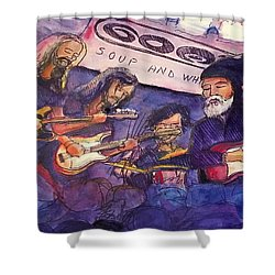 Jerry Joseph And The Jackmormons Shower Curtain by David Sockrider