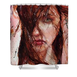 Jerry Shower Curtain by Judith Levins