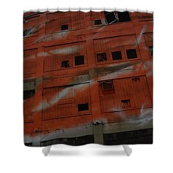 Jersey Building Trainview Shower Curtain
