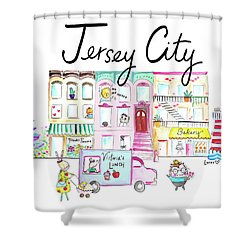Jersey City Shower Curtain by Ashley Lucas